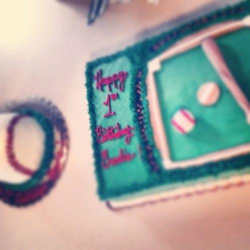Baby cousins first birthday! FirstBirthday Baseball Ballfeild Bat cakedesigns amazing f4f l4l follow4follow