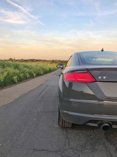 …enjoyed some TT-Time. This Audi TT; from Regensburg ⇢ Frankfurt. 1/2 Audi TT Sky Cloud - Sky Road Land Vehicle Nature Motor Vehicle Car Sunset