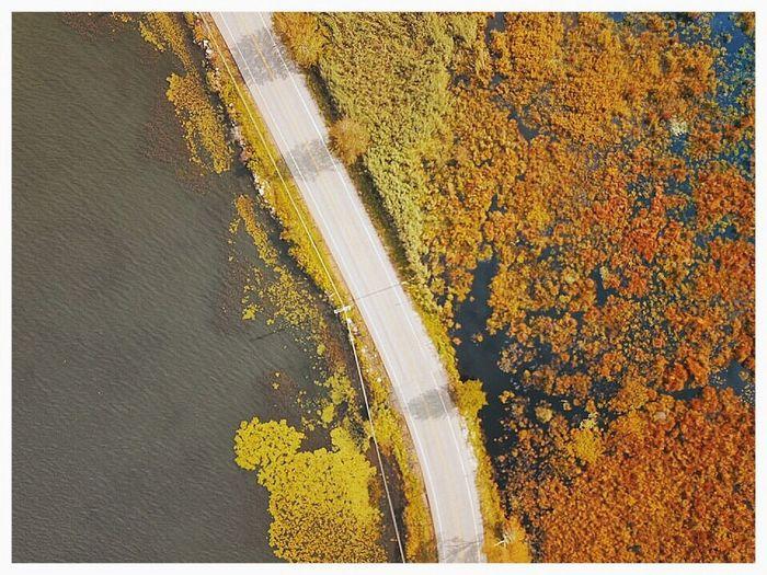 Drone shot over Bantam Lake, CT Bantam Lake Connecticut Roadtonowhere Dronephotography