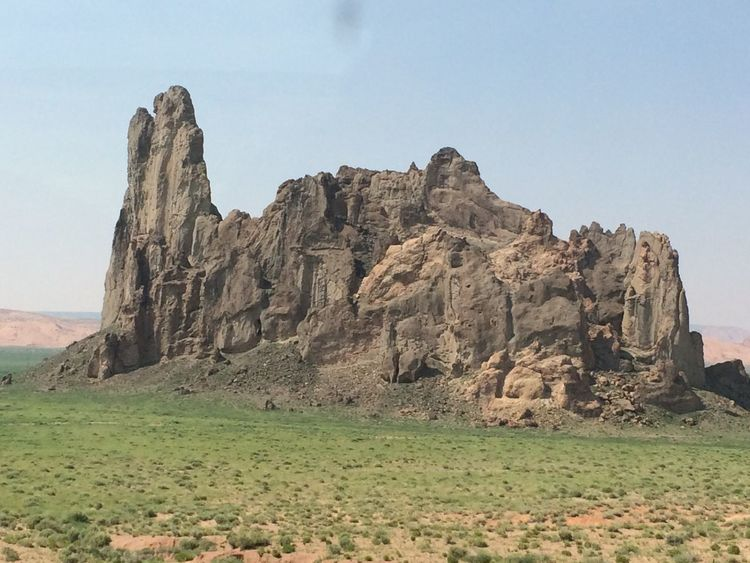 Rock Formation Arizona In The Middle Of Nowhere Tower Flatlands