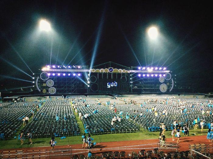 2014.07.12 God 15th Concert Amazing Enjoy Life 오랜만에 하늘색모임. 다신 헤어지지말자.