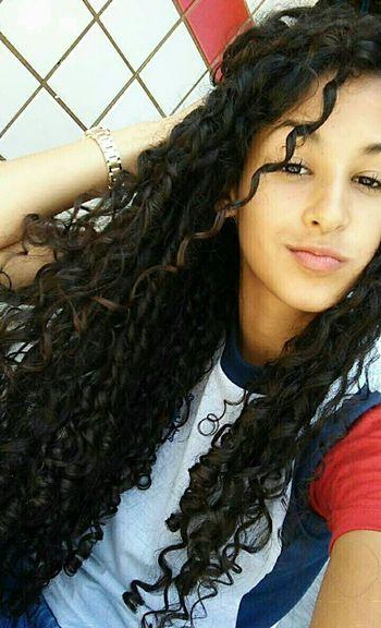 Brasil📍 BrasilianGirl Alagoas Cachosmeus Cabelocacheado Amomeuscachos School ✌ Cachos *--* Curly Hair ❤ Long Hair, Don't Care.