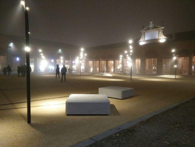 Nebbia Piazza Lugo Centro Storico Notte Parco Romagna Pavaglione Lugo Di Romagna