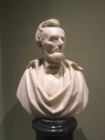 Abraham Lincoln Statue Lincoln Human Representation Sculpture Statue Art And Craft Male Likeness Representation Craft Indoors  No People