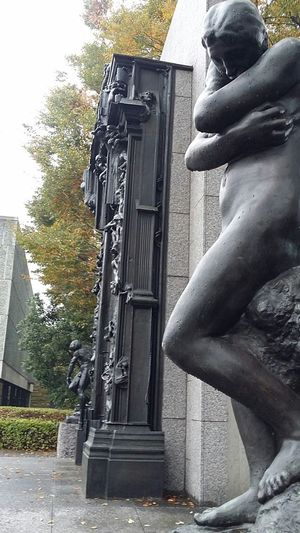 Eve Gates Of Hell Auguste Rodin Sculpture Art National Museum Of Western Art Ueno Park Tokyo