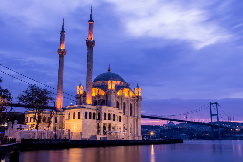 Architecture Illuminated Travel Destinations Bridge - Man Made Structure Water Sky Suspension Bridge Built Structure Cityscape Outdoors Blue Beauty Sunrise_Collection Sunrise And Clouds Sunrise_sunsets_aroundworld Sunrise Photography Sunriseporn Ortaköy Mosque Ortaköy - Bosphorus Beşiktaş ıstanbul Türkiye Ortakoymosque Ortaköy Sahili Ortaköysahili