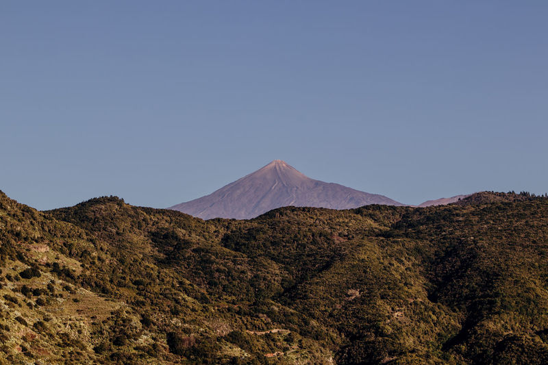 Teide Mountain Sky Scenics - Nature Tranquil Scene Landscape Tranquility Environment Beauty In Nature Non-urban Scene No People Land Clear Sky Volcano Remote Copy Space Nature Idyllic Physical Geography Geology Outdoors Mountain Peak Arid Climate Climate Volcanic Crater Teide