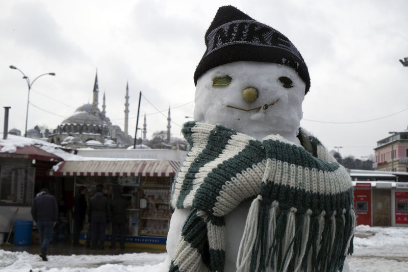 Snow Man in Istanbul's old town Cityscape Cold Temperature Istanbul City Istanbul Turkey Old Town Snow Snow Man Snowy Weather Winter Winter Time Cold ❄