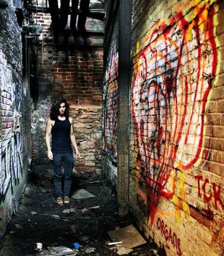 Writing On The Walls Abandoned Graffiti Boy