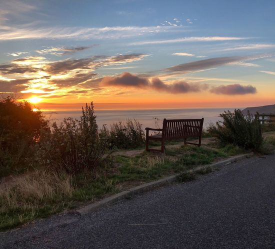 Beautiful Sunrise ❤️ Sunrise Collection Sunrise Over Water Sunrise Photography Beautiful Nature North Yorkshire Coast Scarborough In The UK Sunrise Collection Sky Beauty In Nature Cloud - Sky Tranquil Scene Plant Nature Scenics - Nature No People Sunlight Outdoors Tranquility Land Water Idyllic