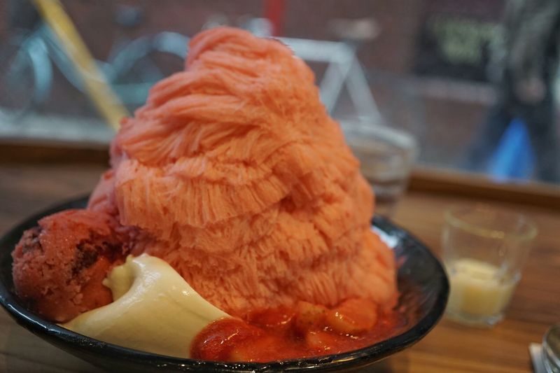 Shaved Ice Flavored Ice Sweet Ice Strawberry Sensation Shave Ice Food Food And Drink Freshness Indoors  Ready-to-eat Close-up