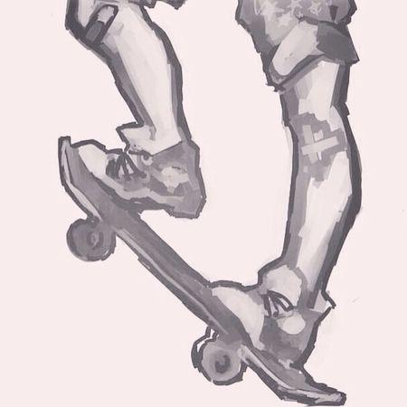 Legs Skateboard Art Flooder 2012 artwork winter