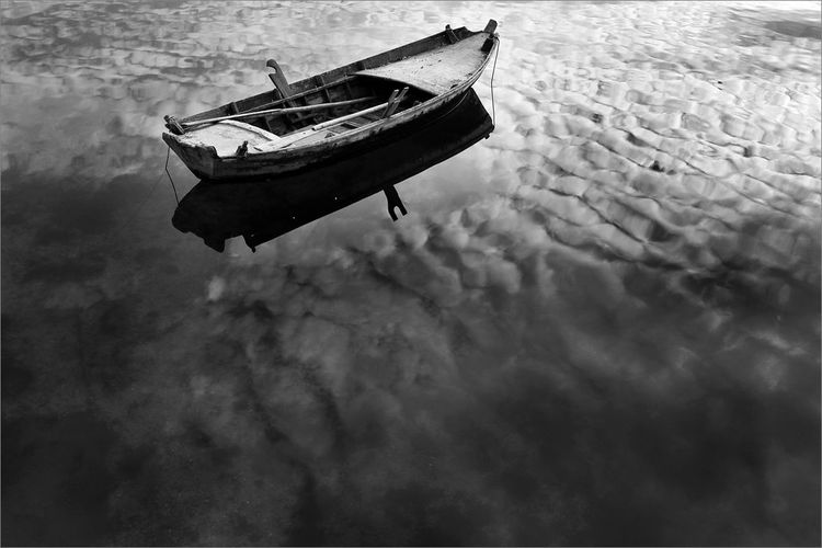 Water Mode Of Transport Boat Reflections Clouds Photographer Milko Marchetti Photo Of The Day Manfrottoimaginemore Manfrotto Landscape Deltadelpo Italy🇮🇹