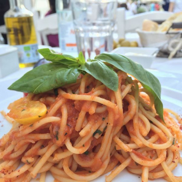 Food Spaghetti SPAIN Ibiza Enjoying Life Hanging Out Relaxing Small Street Old Town Old Village Pasta Red Tomatoes Tomato Sauce Eating Eating Healthy Healthy Healthy Food
