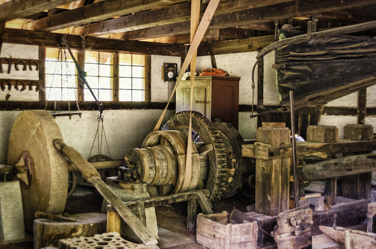 Expired Flour Mill Indoors  Lost Place Millstone No People Old Windows Wood - Material Workshop