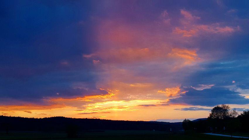 Sunset Dramatic Sky Cloud - Sky