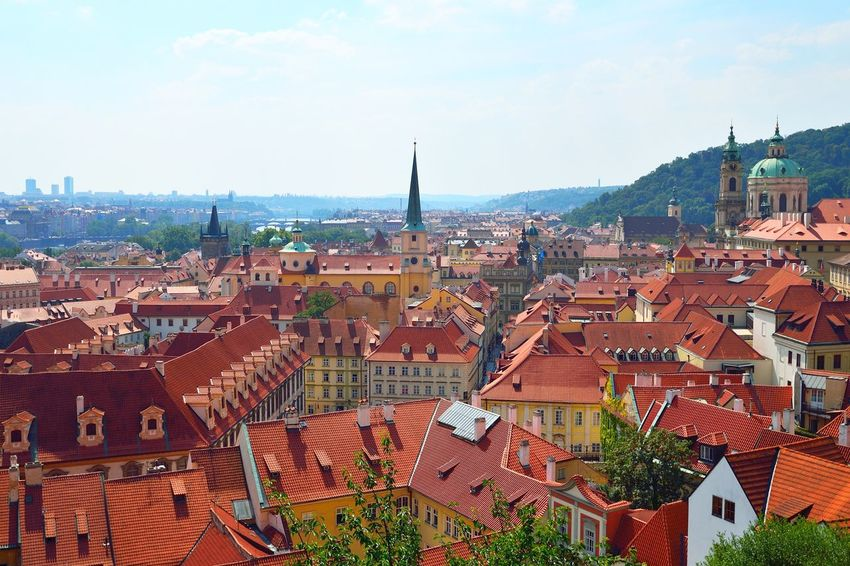 Red roofs of old Prague, a view from the castle hill Architecture Building Exterior Built Structure City Cityscape Czech Czech Republic Day Europe Nature No People Outdoors Prague Prague Castle Prague Czech Republic Prague Old Town Praha Red Roof Roof Sky Tourism Town Travel Travel Destinations