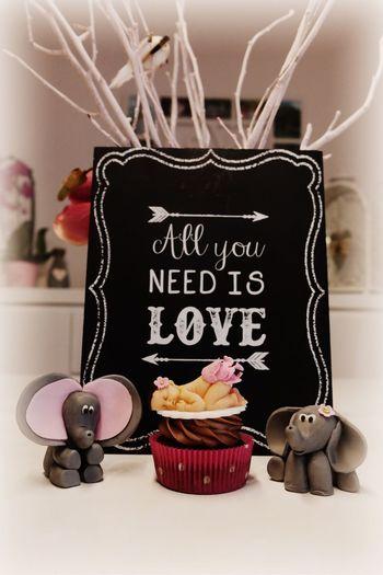 Babyparty Cupcakes Baby Tortenpost Pink Girl Sweet Love Hearts Elephant