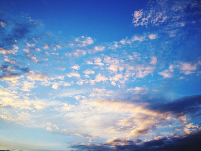 Blue Sky Cloud - Sky Nature No People Sunset Scenics Low Angle View Backgrounds Sky Only Outdoors Tranquil Scene Beauty In Nature Multi Colored Tranquility Summer Day Space