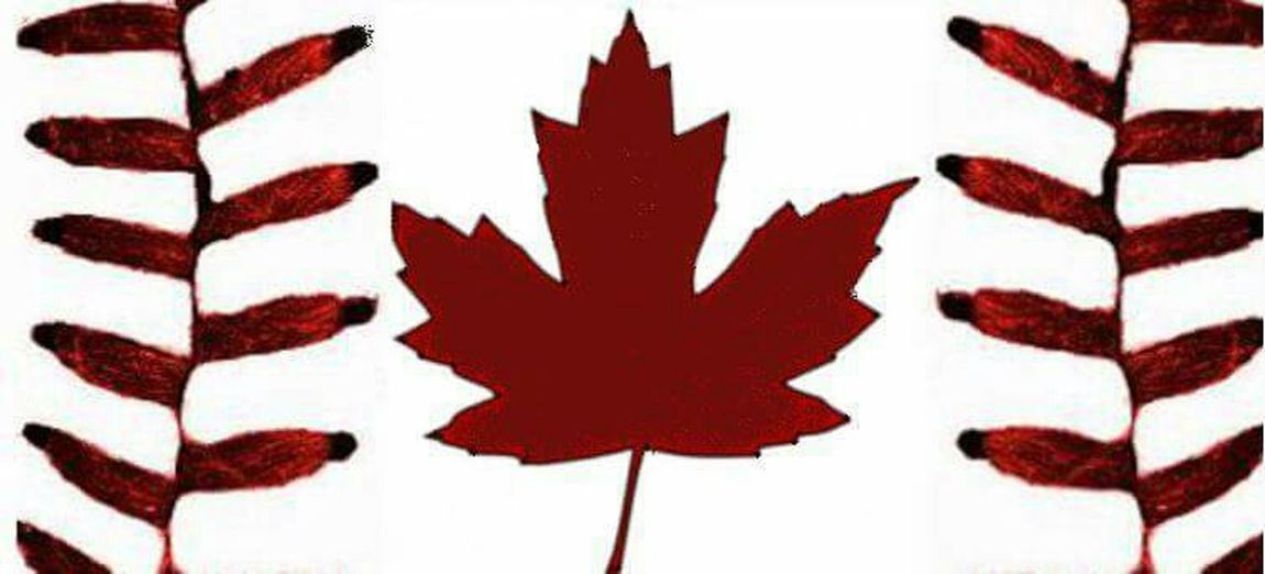 Playing around with photoshop and made this for the husband! Canada Baseball Baseballseam Leaf Mapleleaf Flag