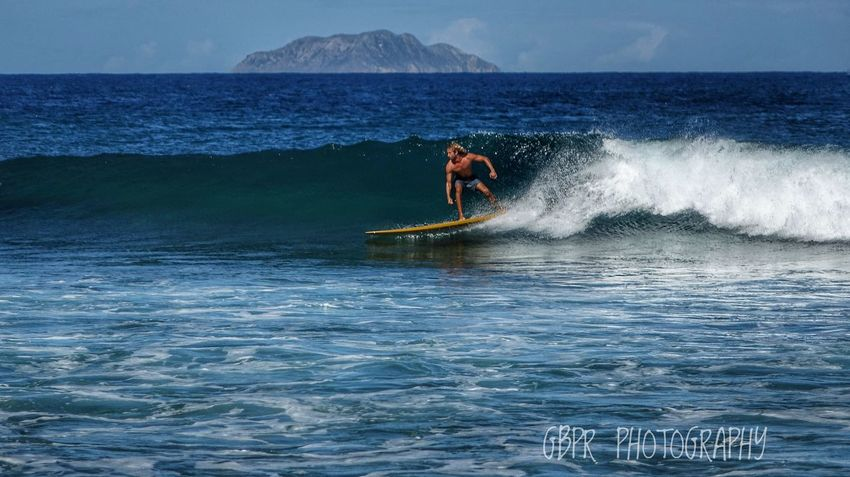 One Man Only Adventure Men Sport Outdoors Motion Day Sea Nature Water Wave Sky Surfers Paradise RISK Beauty In Nature Wave Surf Photography Surf Life Puerto Rico Surfing Rincon