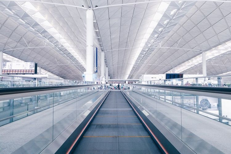 Moving Walkway In Airport