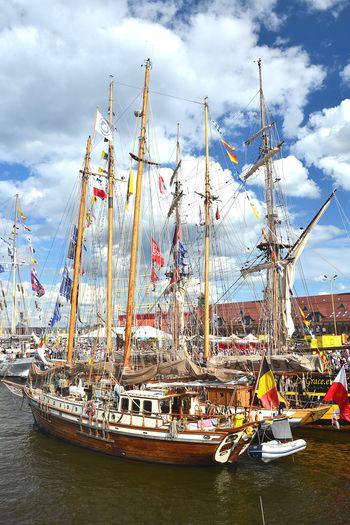 Szczecin Szczecin Poland Sailing Ship Sea And Sky Sea Tall Ship żaglowiec