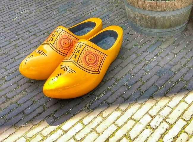 Out Of The Box Yellow My new Shoes😉💛 Wood Art Big Shoes in Zaanse Schans Netherlands Holland Holland❤