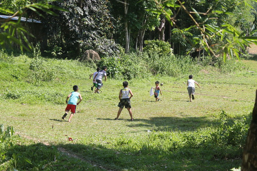 Let the children play Childhood Playing Green Color Sunlight Outdoors Togetherness Grass Nature Boys No Edit/no Filter Canon1100d Canonphotography