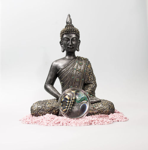 Antique Art Art And Craft Buddha Buddhism Close-up Copy Space Creativity Feng Shui Fengshui  Human Representation Indoors  Male Likeness Man Made Object No People Ornate Religion Sculpture Single Object Spirituality Statue Still Life StillLifePhotography Studio Shot White Background