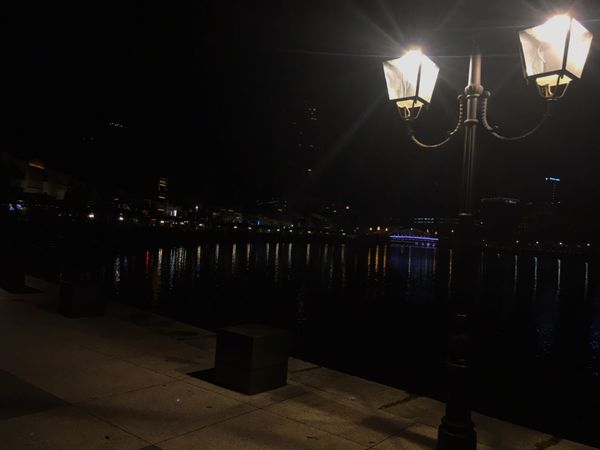 Night Illuminated Lighting Equipment Electricity  Water Lake No People Sky Outdoors Technology City