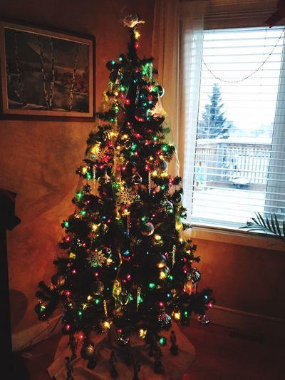 Christmas Tree Christmas Decoration Tree Christmas Lights Christmas Ornament Nut Cracker Ho Ho Ho  Merry Christmas Colorful