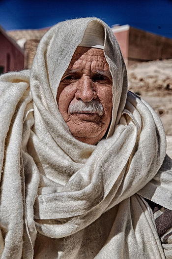 Senior Adult Adult People Relaxation Indoors  Portrait Towel Lifestyles Real People Front View Close-up Human Body Part Men Wrinkled Headshot Males  Day Focus On Foreground