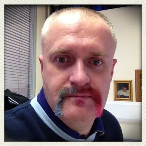 Would you look at the hack of yer man at work today. MovemberMadness