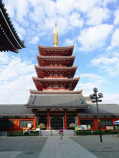 Sensoji Temple Japan Photography Journey Tokyo Japan Japan Photography Sensoji Temple  Sensoji Asakusa City Place Of Worship Religion Sky Architecture Building Exterior Built Structure Cloud - Sky Pagoda Pavilion Buddhist Temple Visiting Historic
