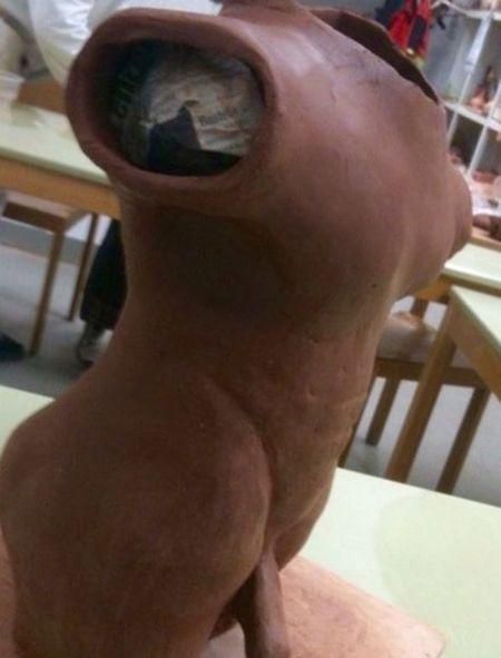 Sculpture Pottery Menstyle Men Muscles Corpus Skulptur Working Werkstatt Culture Kunst Kunstwerk