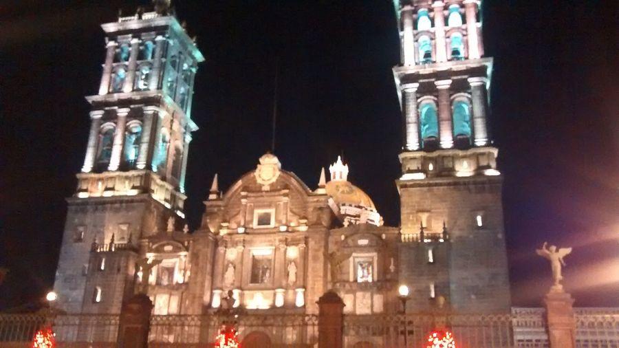 Cathedral Catedral Goodnight Puebla De Zaragoza