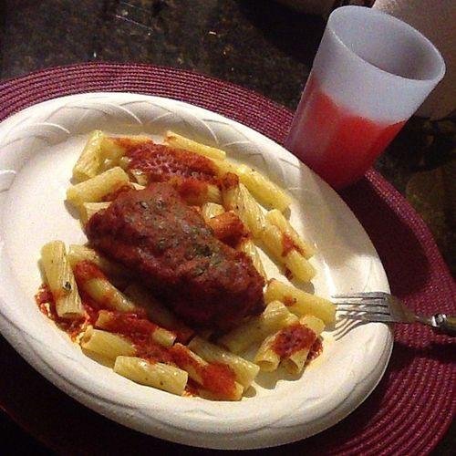 Italian Clutch boy Chickenparma Pasta Friutsoda