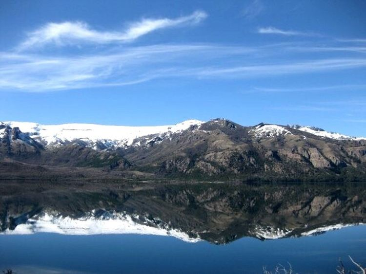 Meliquina San Martin De Los Andes Chapelco Snow Reflection Lake Lake View Lakeshore Mountain Sky And Clouds Sky And Lake Patagonia Argentina Patagonia Landscape_Collection Landscape Landscape_photography