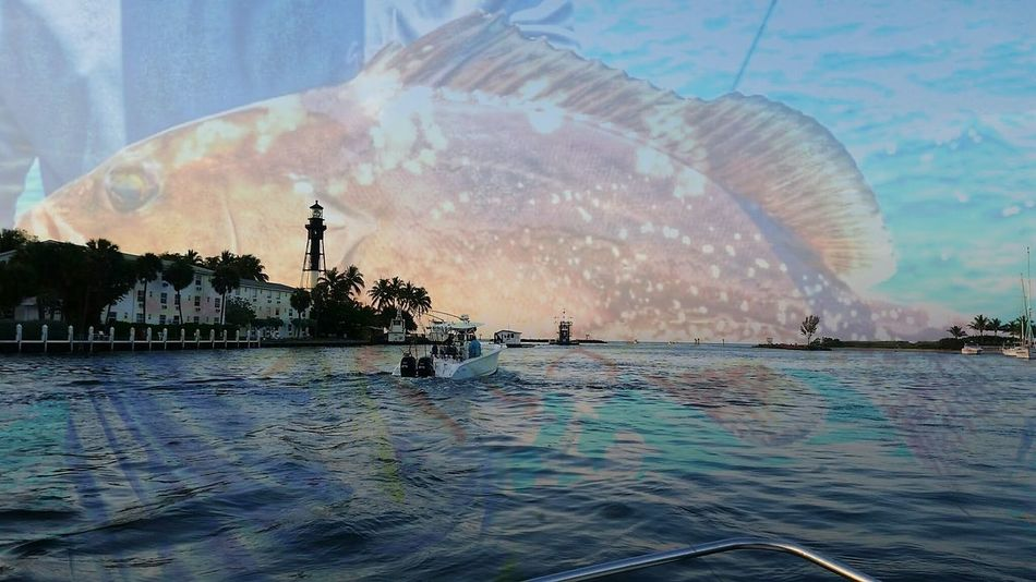 The day i fell in love with taking and blending my photos Grouper Lighthouse Nature BlendPic Sky Multi Colored Boat EyeEmNewHerer Florida Sky Outdoors Beauty Architecture Sea Water