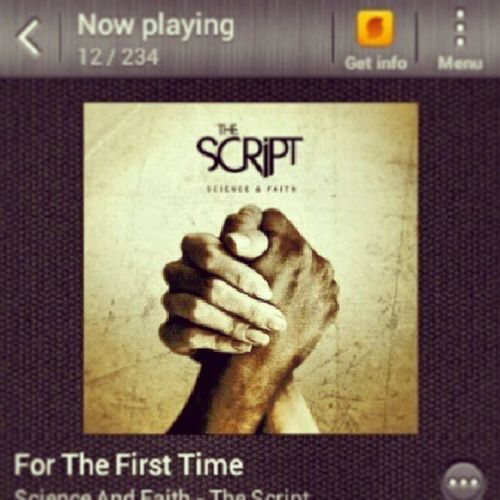 Nowplaying ForTheFirstTime by @thescripts
