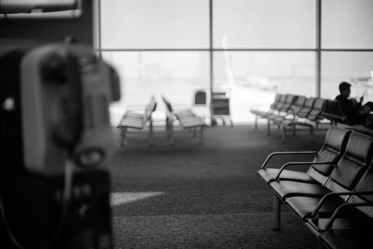 Airport Airport Departure Area Airport Art Airportlife Travel Destinations Terminal Passenger Airport Terminal Traveling Home For The Holidays Sitting Travel Monochrome Shades Of Grey Black And White Collection  Black And White Airplane Seat Close Up Technology Resist Long Goodbye Let's Go. Together. An Eye For Travel It's About The Journey