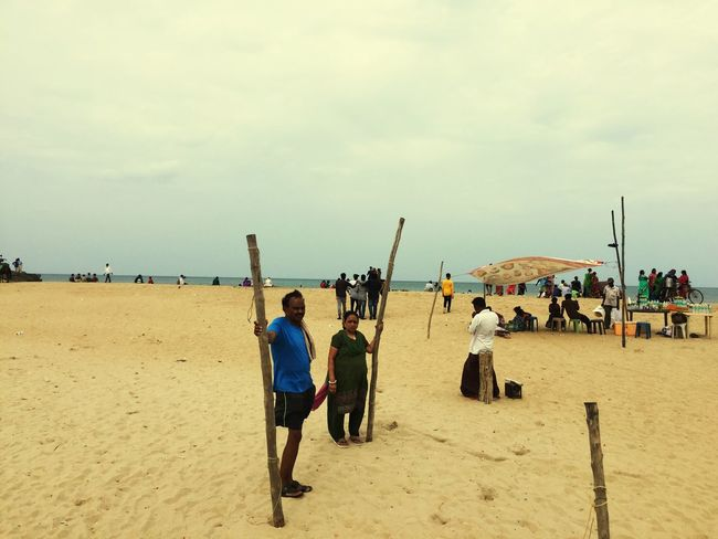 Beach Mahabalipuram Sand Real People Beach Men Sky Lifestyles Day Large Group Of People Rear View Outdoors Leisure Activity Cloud - Sky Nature Women Vacations Standing Beauty In Nature Adult People EyeEmNewHere Mahabalipuram, India Breathing Space Investing In Quality Of Life