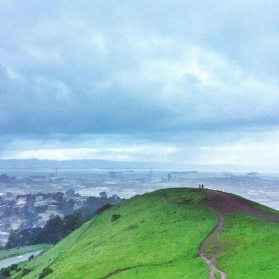 San Francisco! Sky Cloud - Sky Nature Scenics Landscape Green Color Tranquil Scene Silhouette The Week Of Eyeem Week On Eyeem San Francisco