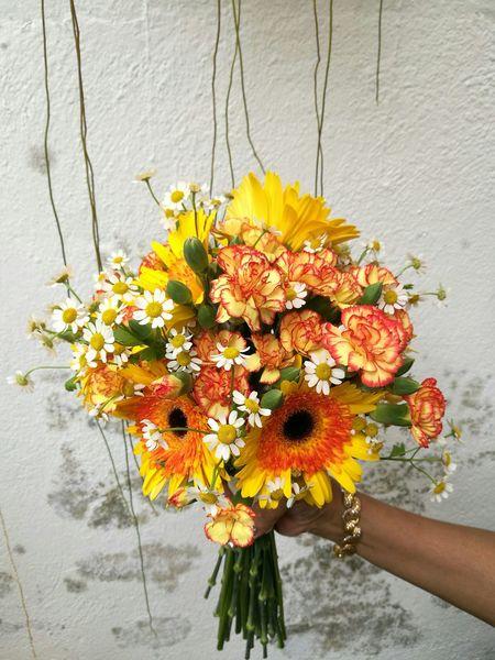 A Festive Request. Flower Freshness Beauty In Nature Flower Photography Flowerarrangement Gerbera Daisy Miniature Daisy Carnation Flowers Chritmas Eve