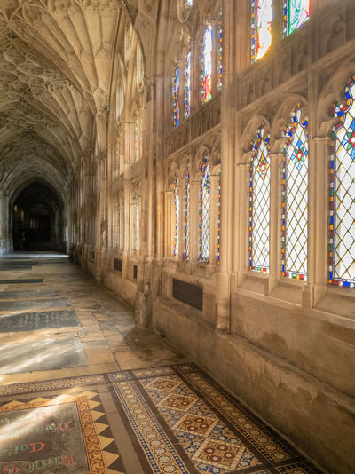 Architecture Place Of Worship Religion Spirituality Indoors  Window Day Arch History No People Gothic Style Architectural Column Gloucester Cathedral Cathedral Medieval