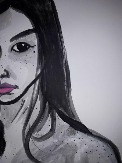 Portrait Beautiful Woman Beauty Young Women Human Face Studio Shot Close-up