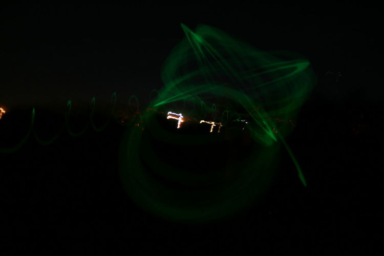 Abstract Glowing Glowstick X Glowstickart Green Color Green X Motion Night