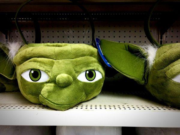 Easter basket in the shape of Yoda's head. Projectaz Yoda Photoproject 365 Starwars Day25