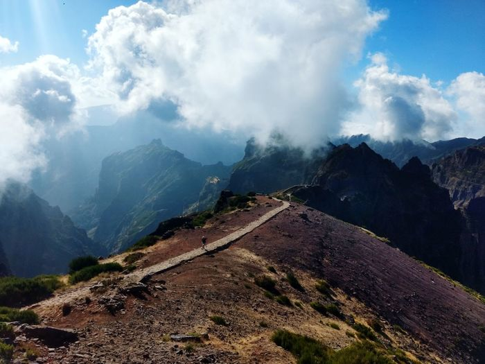 Pico do Arieiro Arieiro Pico Do Arieiro Madeira Cloud - Sky Cloud Mountain Sendero Ancient Civilization Mountain Tree Fog Tea Crop Cultures Ancient Sky Landscape Mountain Range